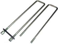 Стремянка платформы (усилен.)     L=480мм      М16, гайка Н=30, пластина 10 мм
