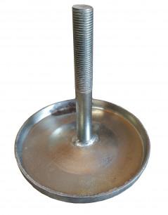 Шток + диск на энергоаккумулятор (сварной вариант) тип 24 d=16 м14*1,5  гальваника